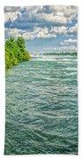 Waters Feeding Niagara Falls Beach Towel
