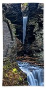 Watkins Glen Central Cascade Beach Towel