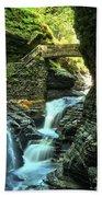 Watkins Glen Waterfalls Beach Towel