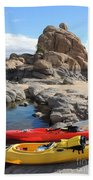 Watson Lake Beach Towel by Diane Greco-Lesser