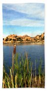 Watson Lake Beach Towel by Kurt Van Wagner