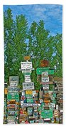Watson Lake Sign Forest-yt Beach Towel by Ruth Hager