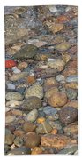 Wave Over Beautiful Rocks Beach Towel