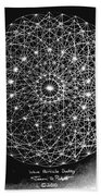 Wave Particle Duality Black White Beach Sheet