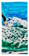 Wave Surfer Beach Towel