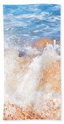Wave Up Close Beach Towel