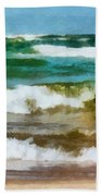 Waves Crash Beach Towel