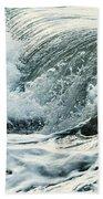 Waves In Stormy Ocean Beach Towel