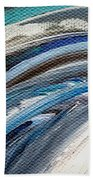 Textured Waves Of Blue Beach Towel