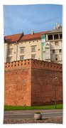 Wawel Royal Castle In Krakow Beach Towel