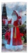 Wdw Santa Photo Art Beach Towel