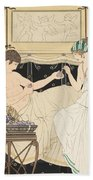 We Gorged With Grapes And Figs Least Beach Towel by Joseph Kuhn-Regnier
