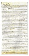 We The People Constitution Page 1 Beach Towel