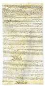 We The People Constitution Page 3 Beach Towel