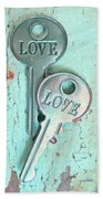 Weathered Love Beach Towel
