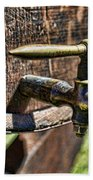 Weathered Tap And Barrel Beach Towel by Paul Ward