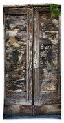 Weathered Wood Door Venice Italy Beach Towel