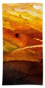 Weathered Wood Landscape Beach Towel