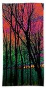 Webbs Woods Sunset Beach Towel