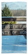 Webster Park Sign Beach Towel
