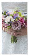 Wedding Bouquet Beach Towel