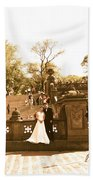 Wedding In Central Park Beach Towel