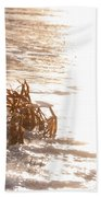Weeds On Ice Beach Towel
