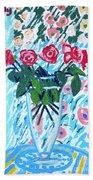 Weekend Roses Beach Towel
