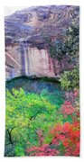 Weeping Rock At Zion National Park Beach Towel