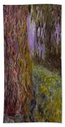 Weeping Willow And The Waterlily Pond Beach Sheet