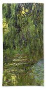Weeping Willows The Waterlily Pond At Giverny Beach Towel by Claude Monet