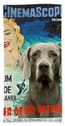 Weimaraner Art Canvas Print - River Of No Return Movie Poster Beach Towel