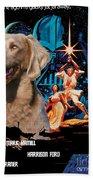 Weimaraner Art Canvas Print - Star Wars Movie Poster Beach Towel