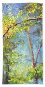 Welcome Home - Birch And Aspen Trees Beach Sheet