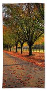 Welcome Home Bradford Pear Lined Drive-way Beach Towel