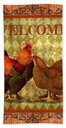 Welcome Rooster-61412 Beach Towel
