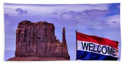 Welcome To Monument Valley Beach Towel