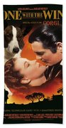 Welsh Corgi Cardigan Art Canvas Print - Gone With The Wind Movie Poster Beach Towel