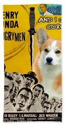 Welsh Corgi Pembroke Art Canvas Print - 12 Angry Men Movie Poster Beach Towel