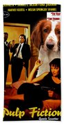 Welsh Springer Spaniel Art Canvas Print - Pulp Fiction Movie Poster Beach Towel