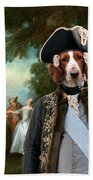 Welsh Springer Spaniel Art Canvas Print Beach Towel