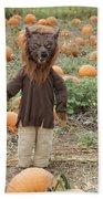 Werewolf In The Pumpkin Patch Beach Towel