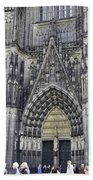 West Entrance Door Cologne Cathedral Beach Towel