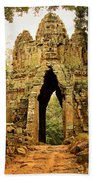 West Gate To Angkor Thom Beach Sheet