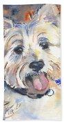 West Highland Terrier Beach Towel