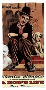 West Highland White Terrier Art Canvas Print - A Dogs Life Movie Poster Beach Towel