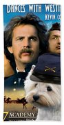 West Highland White Terrier Art Canvas Print - Dances With Wolves Movie Poster Beach Towel