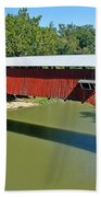 West Union Covered Bridge 2 Beach Towel