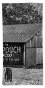 West Virginia Barn Monochrome Beach Towel