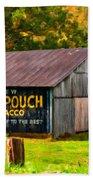 West Virginia Barn Oil Beach Towel